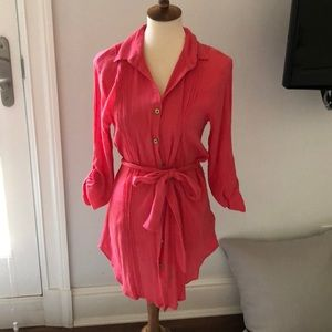 Heidi Klein fuschia cover up size S